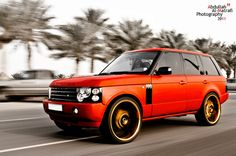 Red Range Rover - beautiful car and photo