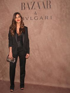 sara in bvlgari event Song Of Style, My Style, I Love Fashion, Star Fashion, Fashion Looks, Womens Fashion, Donna Karan, Sara C, Wedding Pantsuit