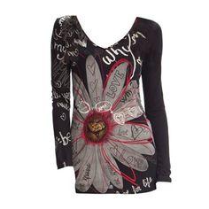 Vicky - T-shirt - fleurs - Desigual - Nouvelle Collection et ventes privées - Ref: 1376785 | Brandalley
