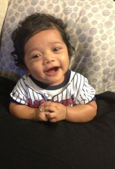 Blasian baby boy smiling BlasianBabies.com