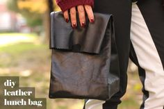 Syl and Sam: DIY leather lunch bag
