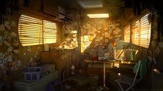 Dark Days : Camping car interior, Sylvain Sarrailh on ArtStation at https://www.artstation.com/artwork/AEBLy