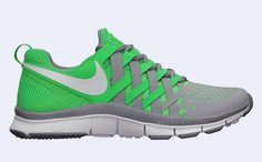 Adding to the colorway variety of the Free Trainer Nike has just introduced a stadium grey and poison green colorway of the sneaker. The kicks known f Sneak Attack, Nike Free Trainer, Adidas Shoes Outlet, Mens Training Shoes, Site Nike, Nike Store, Nike Workout, Nike Free Shoes, Mens Trainers