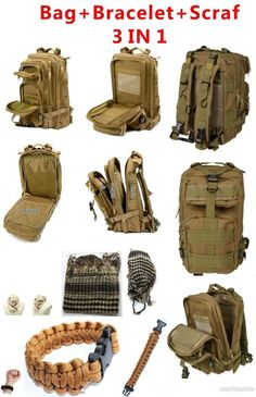 US Army Tactical Survival Hunting Camping Gear Big Capacity MOLLE Backpack Bag #UnbrandedGeneric