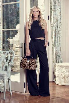 Nicky Hilton with handbag for Linea Pelle fall 2015 Photoshoot
