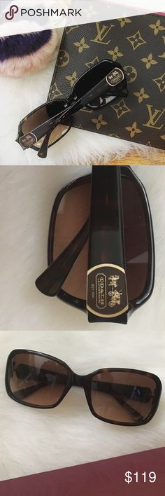NWOT*Coach Sunglasses Authentic Coach sunglasses. Never used. Excellent condition, no scratches on the lenses. Tortoise frames with gradient lenses. Coach logo on both arms. I do not have a Coach sunglasses case but will ship them out in a different hard case. Coach Accessories Sunglasses