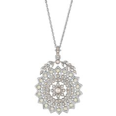 Starburst + Seed Pearl Long Pendant #Jewelry #Gifts