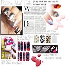 """""""NAIL TREND: Nail Wraps/Foils"""" by amberpolyvore ❤ liked on Polyvore"""