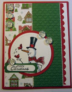 Crafty Maria's Stamping World: Merry Christmas Snow Buddy - Paper Craft Crew Challenge #16