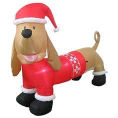 Airblown Inflatables 4.8' Tall Dachshund in Fair Isle Sweater: Christmas Decor : Walmart.com