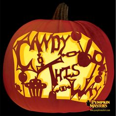 Candy This Way pumpkin. This is pretty awesome! Try carving Pumpkin Masters patterns on Funkins and have them forever! Pumpkin Stencil, Pumpkin Art, Pumpkin Crafts, Pumpkin Ideas, Halloween Tricks, Halloween Stuff, Halloween Pumpkins, Fall Halloween, Pumpkin Carving Kits