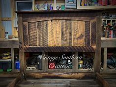 Rustic Farmhouse Furniture, Wood Beds, Barn Wood, Liquor Cabinet, Southern, Bedroom, Vintage, Home Decor, Decoration Home