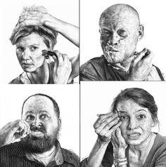 """O artista Heikki Leis produziu uma série de desenhos que intitulou """"Reflexões do dia"""", uma série de desenhos realistas feitos a lápis reproduzindo cenas cotidianas, arte fantástica e uma boa ideia."""
