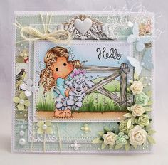 A Sprinkling of Glitter: Tilda With Elsie The Lamb - Simon Says Stamp DT Card