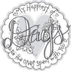 "Spellbinders 3D Cling Stamp 4""X5.75"" By Tammy Tutterow-Days - days"