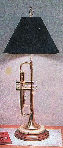 Trumpet Lamp from MusicTreasuresCo.