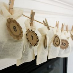 Make Your Own Advent Calendar   -Printable Round Labels/Tags-INSTANT DOWNLOAD on Etsy, $5.00