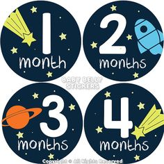 Baby Month Stickers Monthly Baby Stickers by BabyBellyStickers