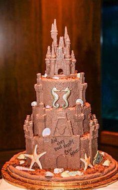 砂のお城ケーキ