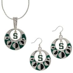 Michigan State Spartans Women's Earrings and Necklace Set