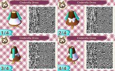 Animal Crossing: New Leaf- Cinderella Dress QR Code.