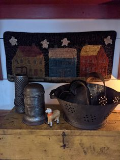 Hand Hooked Rugs, Rug Hooking, Sheep, Quilts, Primitives, Decor Crafts, Kitchens, Inspiration, House
