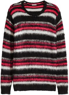 H&M - Knit Sweater - Dark red/striped - Men