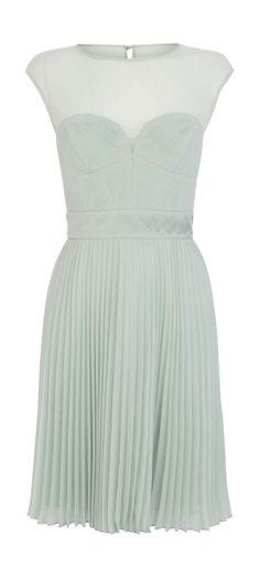 Mint pleated dress