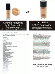 Arbonne difference! foundation vs MAC Arbonne is formulated per European standards. They ban over 1000 chemicals that are cancer causing or dangerous. America only bans 9 of those 1100 products.