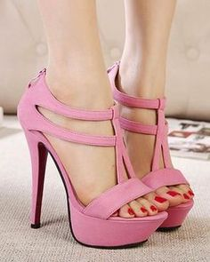 A high heel stylish sandals; pink