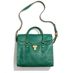 Madewell Lovelock Tote in emerald