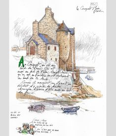 Architectural sketches 862509766120672513 - Le Conquet – Yann Lesacher Source by garoubi Watercolor Sketchbook, Art Sketchbook, Watercolor Art, Voyage Sketchbook, Travel Sketchbook, Contour Drawing, Urban Sketchers, Sketch Painting, Sketchbook Inspiration