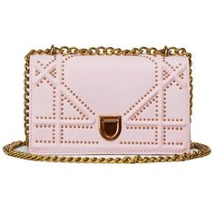 Stud Chain Cross Body Bag In Pink | Twinkledeals.com (1,430 INR) ❤ liked on Polyvore featuring bags, handbags and shoulder bags