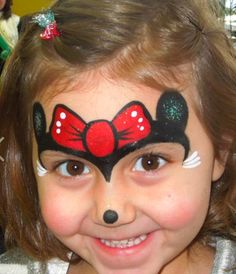 Another Minnie Mouse face painting.