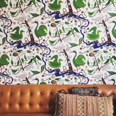 Josef Frank green birds by jenniferbunsa