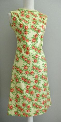 "Vintage 1960's Sun Dress Sz S 36""x30""x38"" Hand Screened Print by Vested Gentress #TheVestedGentress"
