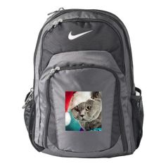 #Gray cat christmas - Christmas cat -kitten cat Nike Backpack - #travel #accessories