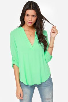 V-sionary Bright Mint Top