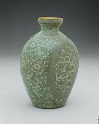 Korean Vase with Dragon and Phoenix, Goryeo dynasty (918–1392), late 13th/early 14th century