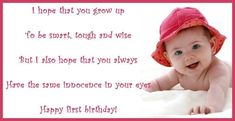 First Birthday Wishes, Poems, and Messages for a Birthday Card