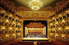 Teatro la Fenice, opera house in Venice, Italy Beautiful Wallpaper Photo, China Southern Airlines, Art Of Noise, Best Of Italy, Concert Hall, Dream Vacations, Italy Travel, Venice, Opera House