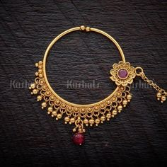 Online Shopping For Fashion, Imitation, Artificial Jewellery For Women Nose Ring Jewelry, Jewelry Design Earrings, Gold Earrings Designs, Gold Jewellery Design, Nose Rings, Bridal Jewellery Inspiration, Jewelry Trends, Bridal Jewelry Vintage, Antique Jewellery Designs