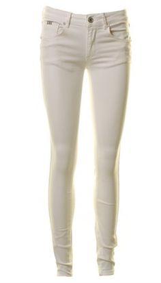 Pieszak - Savannah Chino - Hvide bløde jeans med super pasform