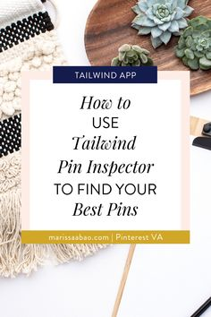 How to Use Tailwind Pin Inspector to Find Your Best Pins — Marissa Abao Pinterest Pin, Pinterest Board, Seo Tips, Pin Image, Virtual Assistant, Pinterest Marketing, Social Media Tips, Helpful Hints, Blogging