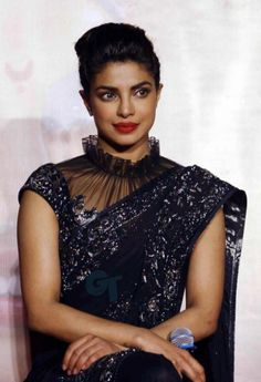 There's Something Strongly Magical About Priyanka Chopra's Saree — PHOTOS