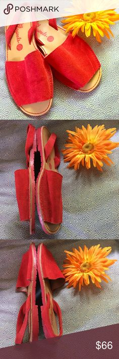 The MTNG ORIGINALS Spanish leather sling backs Pop of color! The MTNG ORIGINALS Spanish leather sling backs. Very gingerly pre-loved. Slight spot on leather, my guess is it came that way. Leather upper, rubber soles. I would suggest for an 8 or narrow 8.5. Size 39 so Posh lists as 9, but run small. The MTNG Originals Shoes Sandals