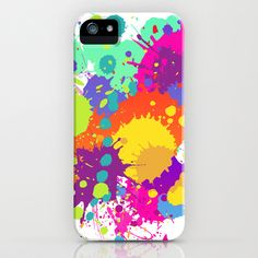 Splashs IV iPhone & iPod Case by Rain Carnival - $35.00 #iphone #samsung #mobile #case #skin #splash #colorful #summer