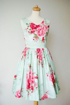 Get the Look At Any Budget: Patterned Bridesmaid Dresses:  Floral Bridesmaid Dress - (Priced between $75-$150)
