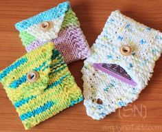 A cute little gift for the tea lover in your life: Tea Toters Free Knitting Pattern Tea Wallet