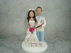 Doctor & Nurse Personalized Wedding Cake Topper by mudcards, $130.00